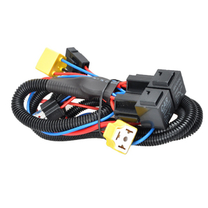 H4 Halogen Wire Harness Car Headlight LED Light Brightness Booster Wiring Harness Kit Headlight Booster Wire For H4 / 9003