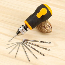 Hand twist drill wenwan hand drill hand drill manual drill woodworking punch tool mini drill free shipping manual hand drill woodworking equipment supporting plastic handle teaching model diy woodworking tools