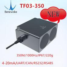 Benewake 350m 485/232/can/uart ip67 TF03-350 sensor lidar para automóvel anti-colisão uav fixo altura segurança industrial