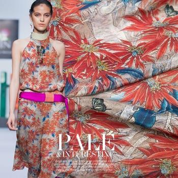 50cm Summer Hot Sale High Quality Silk Fabric Ms. DIY Handmade Dress Sling
