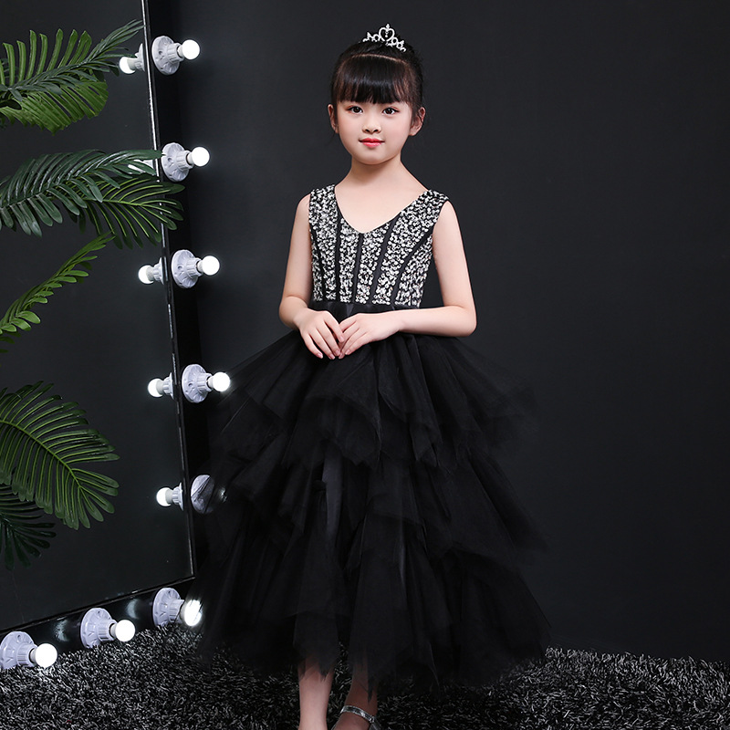 Summer New Style 2019 Girls Evening Dress Big Boy Wedding Dress Korean-style Puffy Long Skirts CHILDREN'S Costume