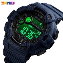 SKMEI модные спортивные часы для улицы Для мужчин будильник 5Bar Водонепроницаемый неделю Дисплей цифровые часы relogio masculino 1472