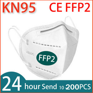 Face-Mask Mascarillas 10-200PCS Filtration Breathable Anti-Flu FFP2 KN95
