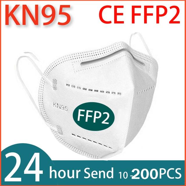 10-200PCS face Mask FFP2 mask KN95 masks Filtration Mouth Masks maske Breathable 95% filtration Anti flu  mascarillas mascherine