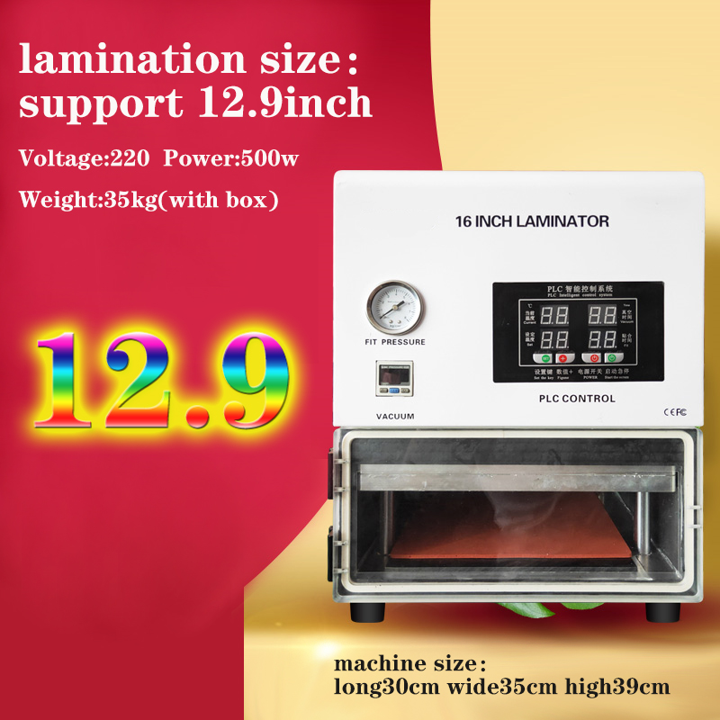 High Update Oca Vacuum Laminating Machine Fit Glass Lcd Screen Cellphone Touch Repair Change Glass Lens  Press Laminate 16inch