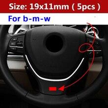 Ручка рычага переключения передач на руль, 5 шт., наклейка на автомобиль для BMW M Logo M3 M5 G01 G30 F15 F31 F34 E36 E39 E46 E60 E87 E91 E90