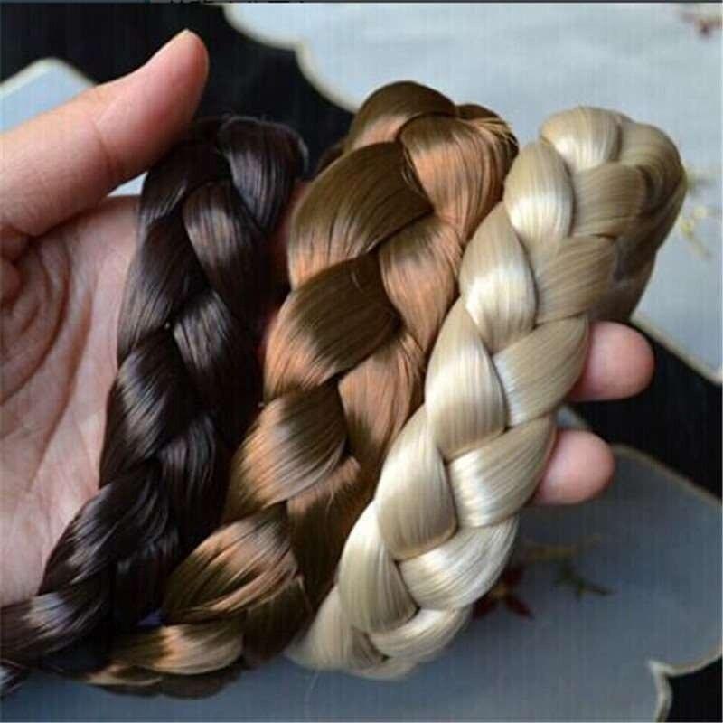 Synthetic Wig Braided Hair Band ElasticTwist Headbands Princess HairBand Headwear Women Girls Hair Accessories 1