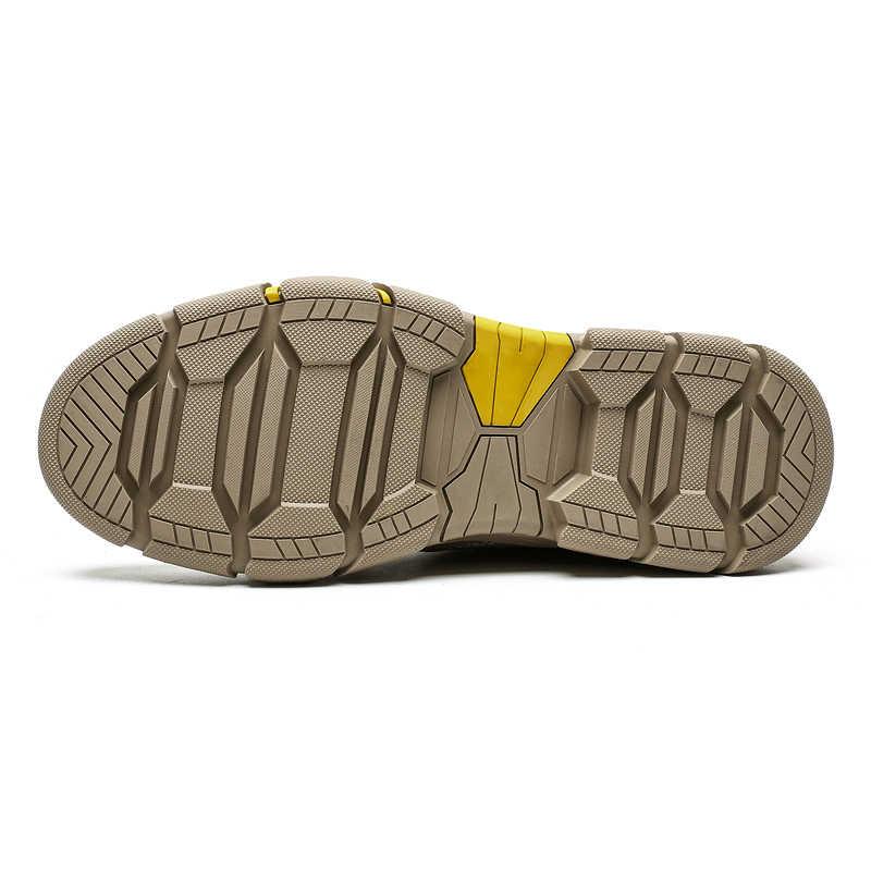 2019 Moda Erkek yürüyüş ayakkabıları Anti-Skid Dağ Tırmanma Botları Açık Nefes Erkekler trekking ayakkabıları Yeni Su Geçirmez Spor Botları