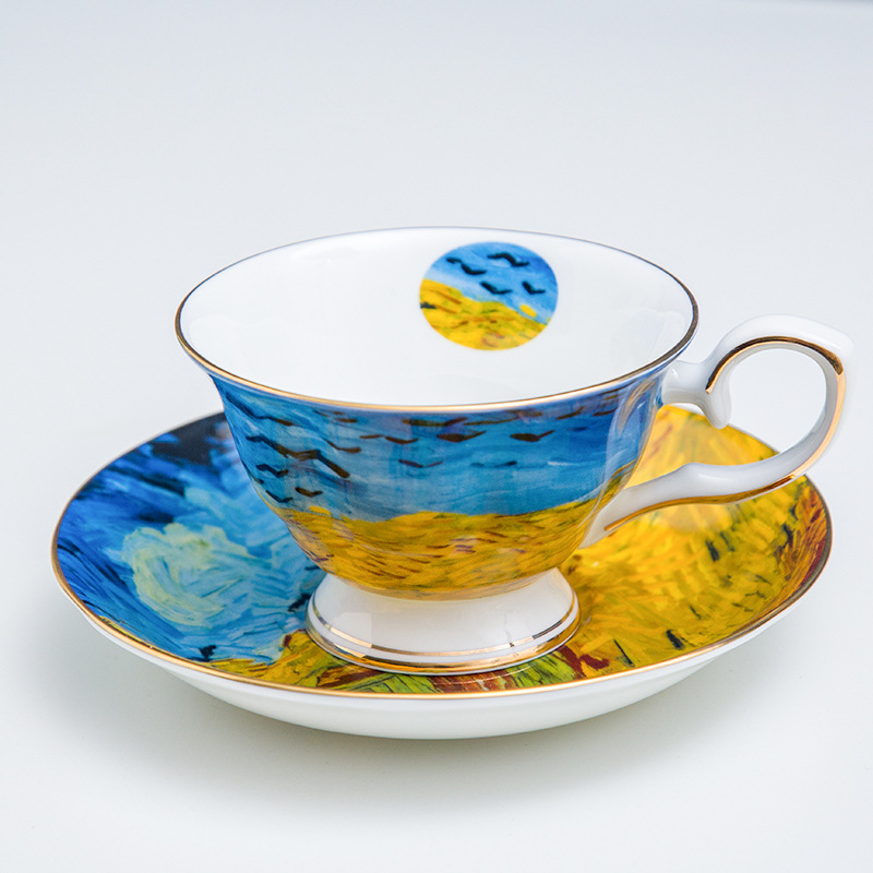 Original Breakfast Cups Vintage Espresso Cup Cup and Saucer Retro Camping Mug European Style Elegant Coffee Rates Luxury Mugs