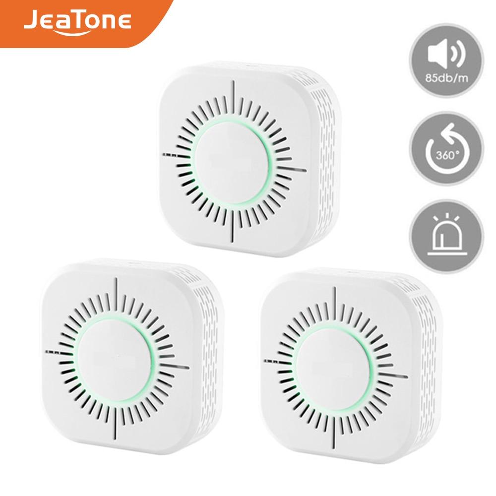 JeaTone 433MHz Smoke Detector Wireless smoke fire alarm sensor protection for home warehouse security alarm system 3pcs/lot