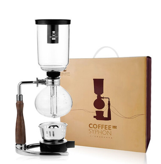 Timemore Japanese Style Siphon coffee maker vacuum coffee maker glass type coffee filter kahve makinas 3cup