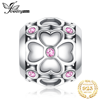 JewelryPalace Clover Flower 925 Sterling Silver Beads Charms Original For Bracelet original Jewelry Making