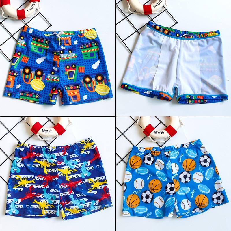 CHILDREN'S Swimming Trunks BOY'S Boxer Shorts Infants Small CHILDREN'S Baby Swimming Trunks Swimwear Big Boy Printed Cartoon Sho