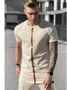 Mens Shirts Tees Tops Short Sik Silk Summer O-Neck Jogging