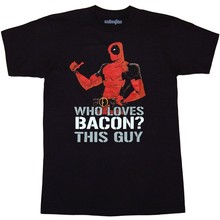 Deadpool Loves Bacon T-Shirt(China)