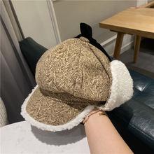 Детская утолщенная зимняя шапка в японском стиле ретро из меха