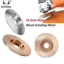 JUSTINLAU 4.25in wolfram drewno karbidowe kształtowanie Disc Carving Disc 22.2mm otwór szlifierka szlifierka koła dla 115/125 szlifierka kątowa