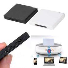Czarny amp biały-Black amp White v2 0 A2DP Adapter odbiornika muzycznego dla ipoda dla iphone #8217 a 30 Pin Dock stacja dokująca do głośnik z 1 LED tanie tanio ACEHE Bluetooth AUDIO CN (pochodzenie) Brak Podwójne none Black White approx 4 4cm x 3 5cm x 0 8cm Bluetooth Bluetooth V2 0 A2DP V1 2