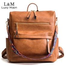 Retro büyük sırt çantası kadın PU deri sırt çantası kadın sırt çantası seyahat sırt çantaları omuz okul çantaları Mochila sırt çantası XA96H
