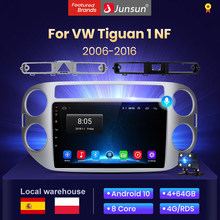 Junsun V1 2G + 128G Android 10,0 AI commande vocale autoradio android multimedia pour Volkswagen vw Tiguan TDI 2012 2010 2009 2008 2006 - 2017 auto radio voiture avec bluetooth/carplay/autoradio gps/car play