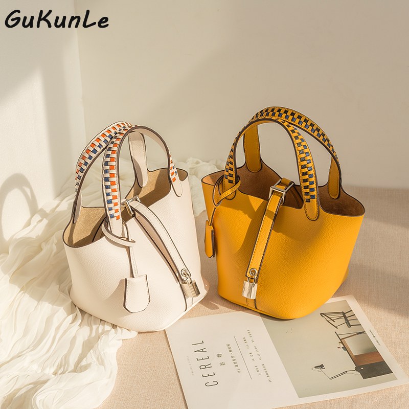 Women's Bucket Bag Shoulder Handbag PU Leather High Quality Crossbody Bag Women Female Designer Bags Famous Brand Women Bags