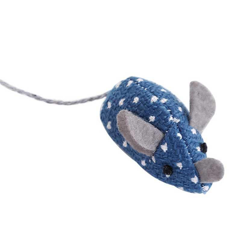 1Pcs False Mouse Kucing Hewan Peliharaan Mainan Kucing Berambut Panjang Ekor Tikus dengan Suara Berderak Lembut Mainan untuk Kucing anjing