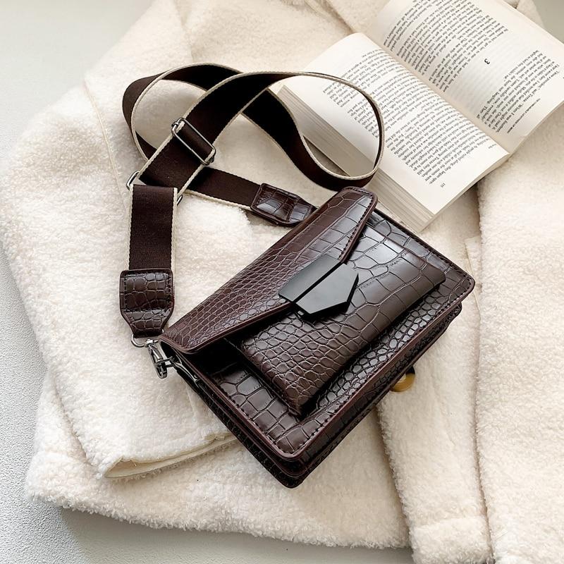 Stone Pattern PU Leather Crossbody Bags For Women 2020 Mini Shoulder Messenger Bag Female Travel Handbags And Purses