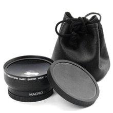 58MM 0.45x Wide Angle Lens 4 for Canon EOS 4000D, 2000D 18-55MM Lens Univeasal Camera Accessories зеркальная фотокамера canon eos 4000d kit 18 55mm 24mp черный 3011c003