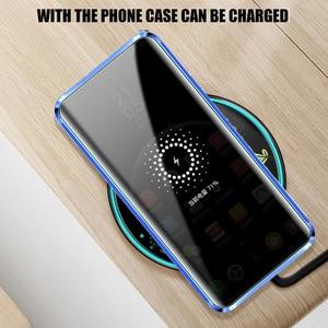Image 4 - Chống Peep Từ Dành Cho Samsung S8 S9 S10 Plus Kính Cường Lực Dành Cho Samsung Note 8 9 Couque 360 ốp Lưng Full Protection