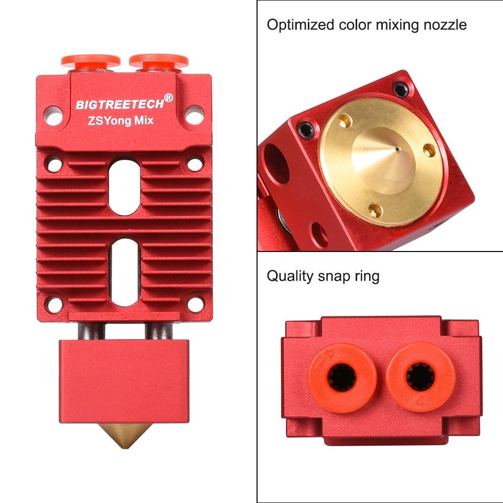 BIGTREETECH 2 IN 1 OUT Hotend Multi Color 3D Printer Parts J-head Hotend 12V/24V 1.75mm Filament For Titan Bulldog MK8 Extruder