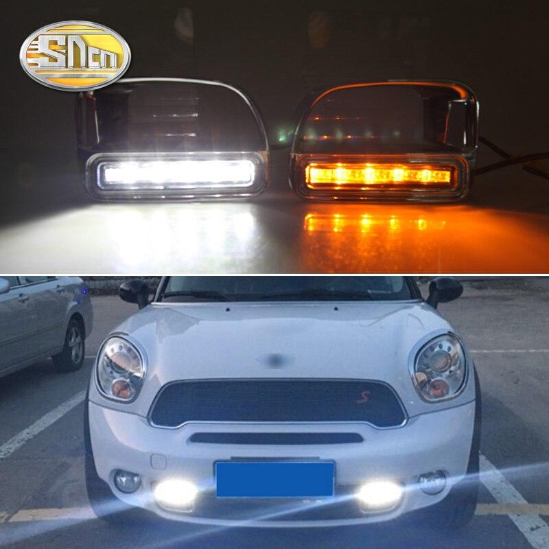 Для BMW Mini Cooper Countryman без ошибок дневные ходовые огни светодиодные DRL Противотуманные фары дальнего света