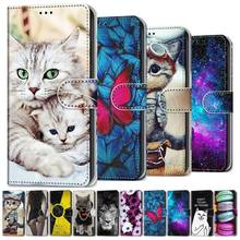 Cat Patterned Flip Leather Wallet Case For Samsung Galaxy A310 A510 A520 A750 A3 2016 A5 2017 A9 A8 A7 2018 J330 J530 J730 DP08F