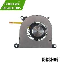 Ventilador de refrigeração do portátil para cc122k02 5v 0.22a G66863-002 2z10z01 para intel ultrabook