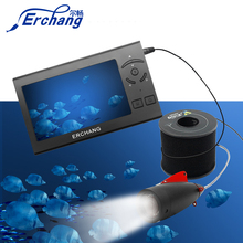 """Erchang 15 м 1000TVL рыболокатор подводный лед рыболовная камера 4,"""" ЖК-монитор 8 шт. светодиодный белый светильник камера для рыбалки"""