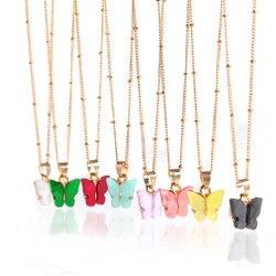 Colliers ras du cou pour filles, avec pendentif papillon en or rose, élégants, doux, à la mode, vente en gros, 2020