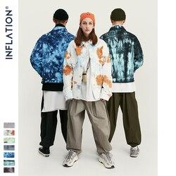INFLATION Design Tie Dye Denim Jacke Männer 2019 FW Streetwear Oversize Jeans Jacke Männer Hip Hop 100% Baumwolle Männer Oberbekleidung 9745W
