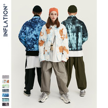 INFLATION Design Tie Dye 데님 자켓 남성 2020 FW Streetwear Oversize Jeans 자켓 남성 힙합 100% Cotton Men Outerwear 9745W(China)