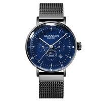 GUANQIN GJ16115 Mens Watches clock Skeleton Automatic Mechanical Wristwatch Watch Man Relogio Masculino
