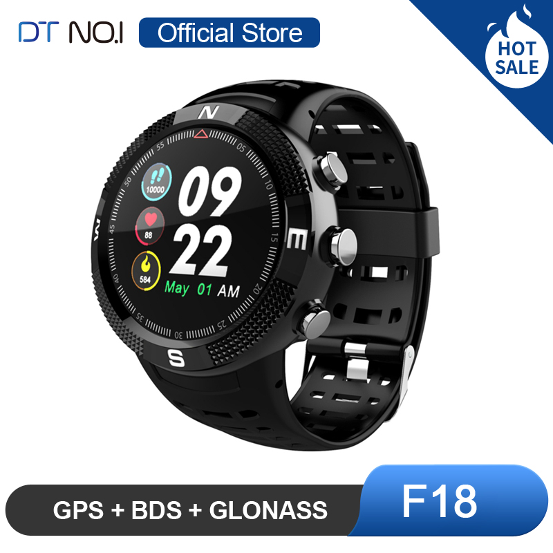 DTNO. ICH NO. 1 F18 <font><b>GPS</b></font> BDS GLONASS 3 Satelliten Global Positioning System Herz Rate Blue tooth 4,2 Sport Smart Uhr smartwatch image
