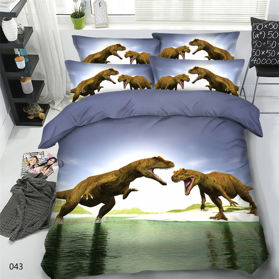 3 Stücke Alle Arten Dinosaurier Druck Bettbezug Set Kinder Geschenk T Rex Tanystropheus Bettwäsche Sets Einzel Volle Größe Bett Set Duvet Cover Set Bed Setbedding Set Aliexpress