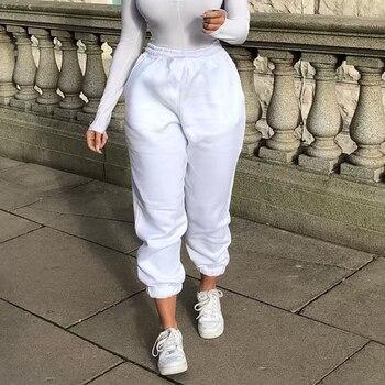Rockmore Baggy Pencil Pants Women Plus Size Black Winter Wide Leg Sweat Pants Oversized Joggers Streetwear High Waisted Trousers 7