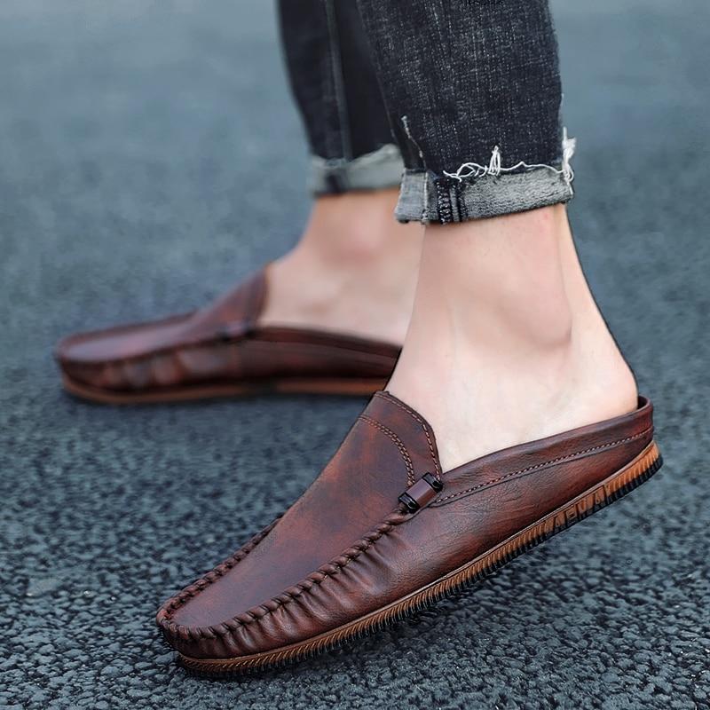 Summer Half Shoes For Men Backless