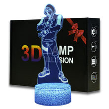 Magiclux Ikonik Model 3D Illusion Lamp Aa Batterijen Usb Beschikbaar Battle Royale Decoratie Nachtverlichting(China)