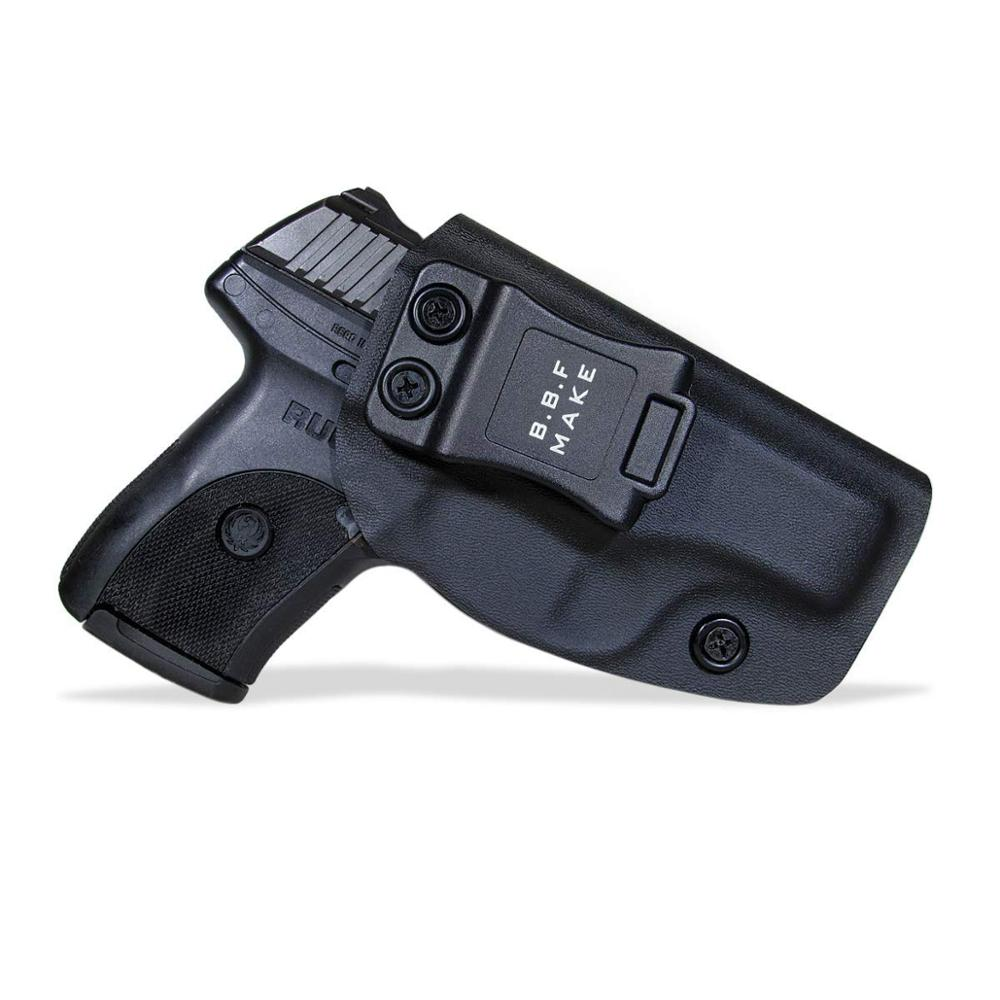 B.B.F Make IWB KYDEX Holster Custom Fits: Ruger LC9 S Gun Case Inside Concealed Carry Waistband Pistol Pouch With Belt Clip