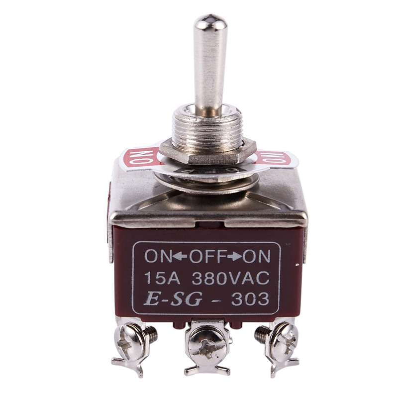 2pcs 3PDT 3 Position 9 Screw Terminals Toggle Switch AC380V 10A E-TEN303