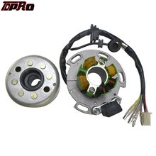 TDPRO Motorcycle Performance Racing Magneto Stator Rotor Kit For Lifan 125cc 138cc 140cc 150cc 4 Stroke Super Bike Atv Scooter high performance magneto stator rotor flywheel kit for motorcycle lifan 110cc 125cc 140cc 150cc ssr sdg pitbike