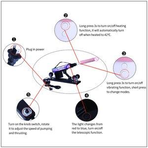 Image 5 - MOVKING Sex Machine realistyczne Dildo z obrotem 360 ° i 12 trybami wibracji automatyczne wbijanie miłość maszyny pistolet dla kobiet i mężczyzn