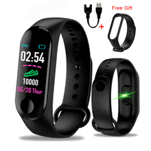 M3plus Smart Bracelet with Replacement Straps Band Heart Rate Activity Tracker Fitness Watch M3 Pro
