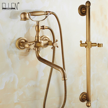 Bathtub Faucet Water-Mixer Hand-Shower with EL741 Tap Crane Finished Bronze Antique