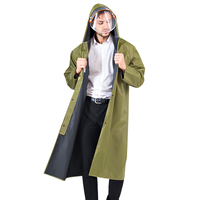 Mit kapuze Regen Mantel Lange Stil Männer Frauen Regenmantel Durable Outdoor Wasserdichte Regen Jacke Undurchlässig Erwachsene Regen Getriebe